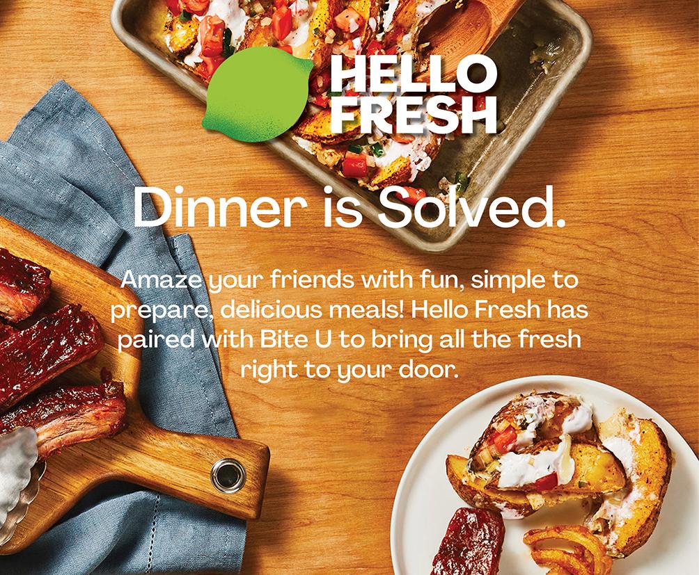 你好新鲜:晚餐解决了。让你的朋友惊呆了,简单准备,美味的饭菜!你好,新鲜搭配咬伤,将所有新鲜的右手带到门口。