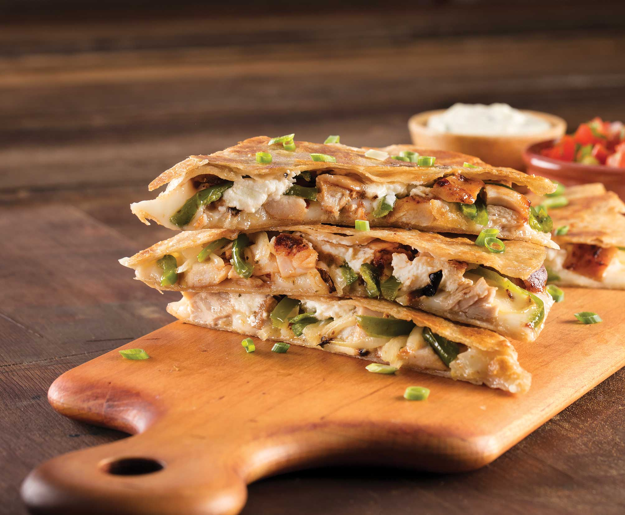 Chicken Goat Cheese Quesadilla