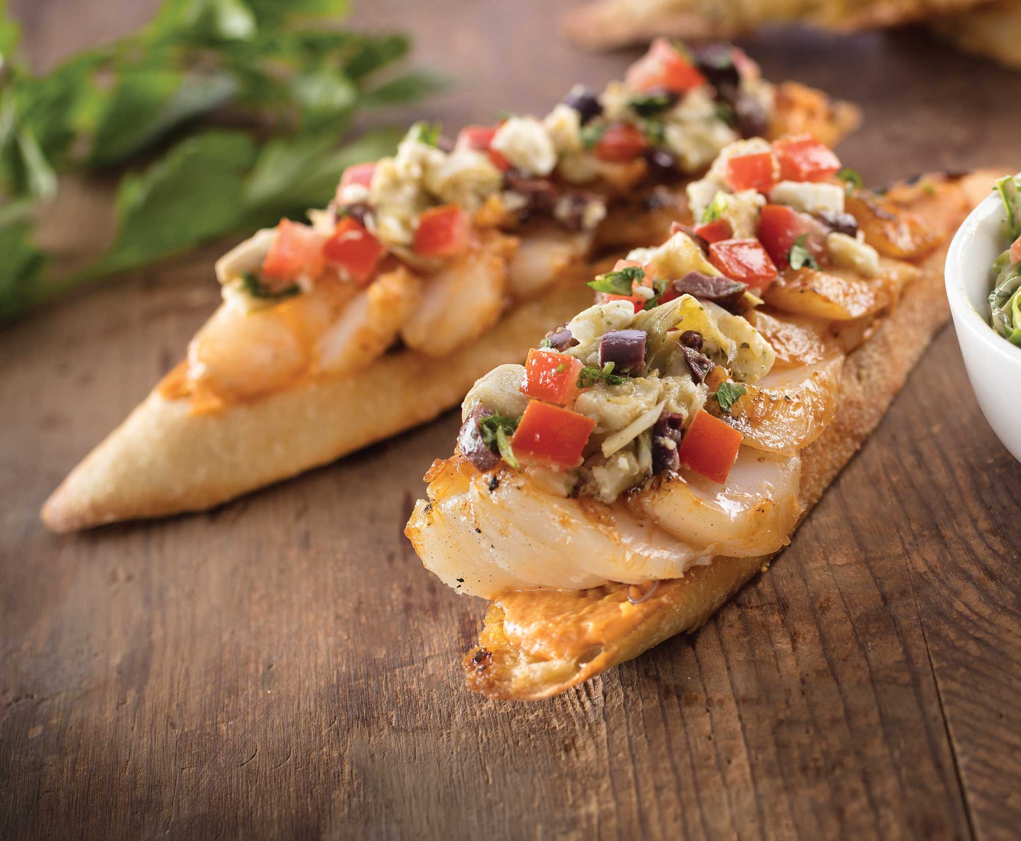 Chipotle Glazed Cod Crostini