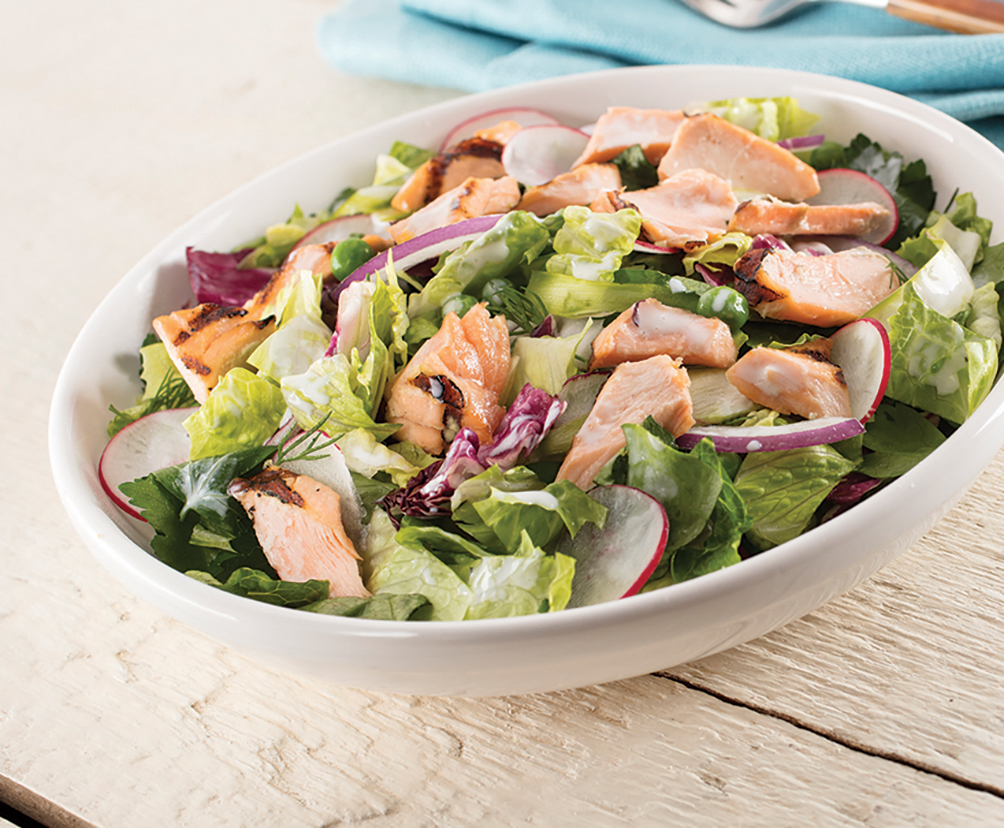 Summer Grilled Salmon Salad