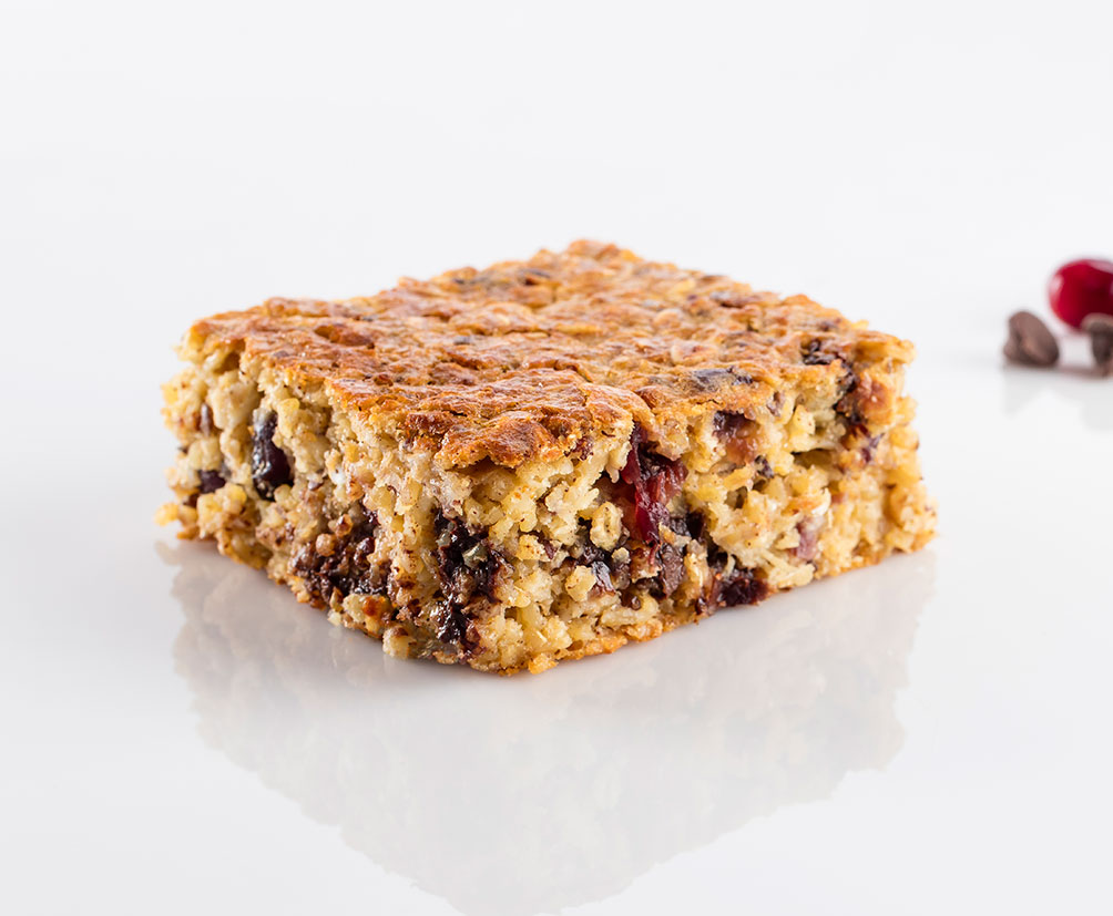 Cranberry Chocolate Oat Square