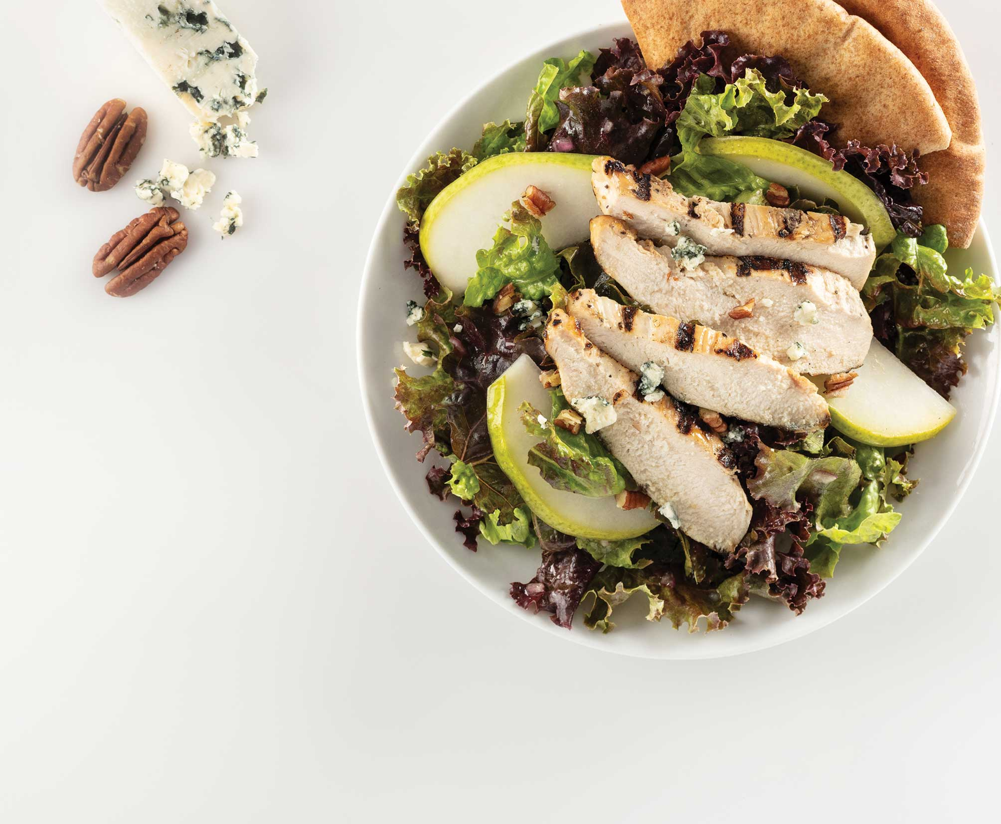 Green Salad Pears Chicken Pecan Blue Cheese