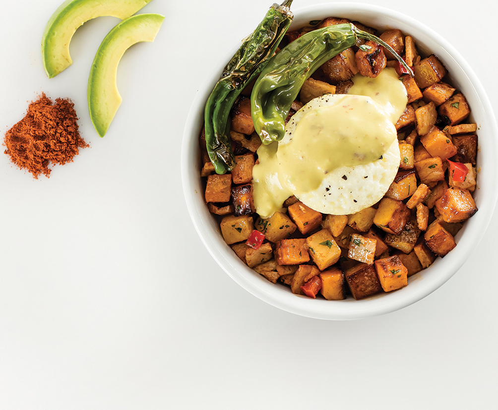 Smoked Turkey Hash Breakfast Bowl