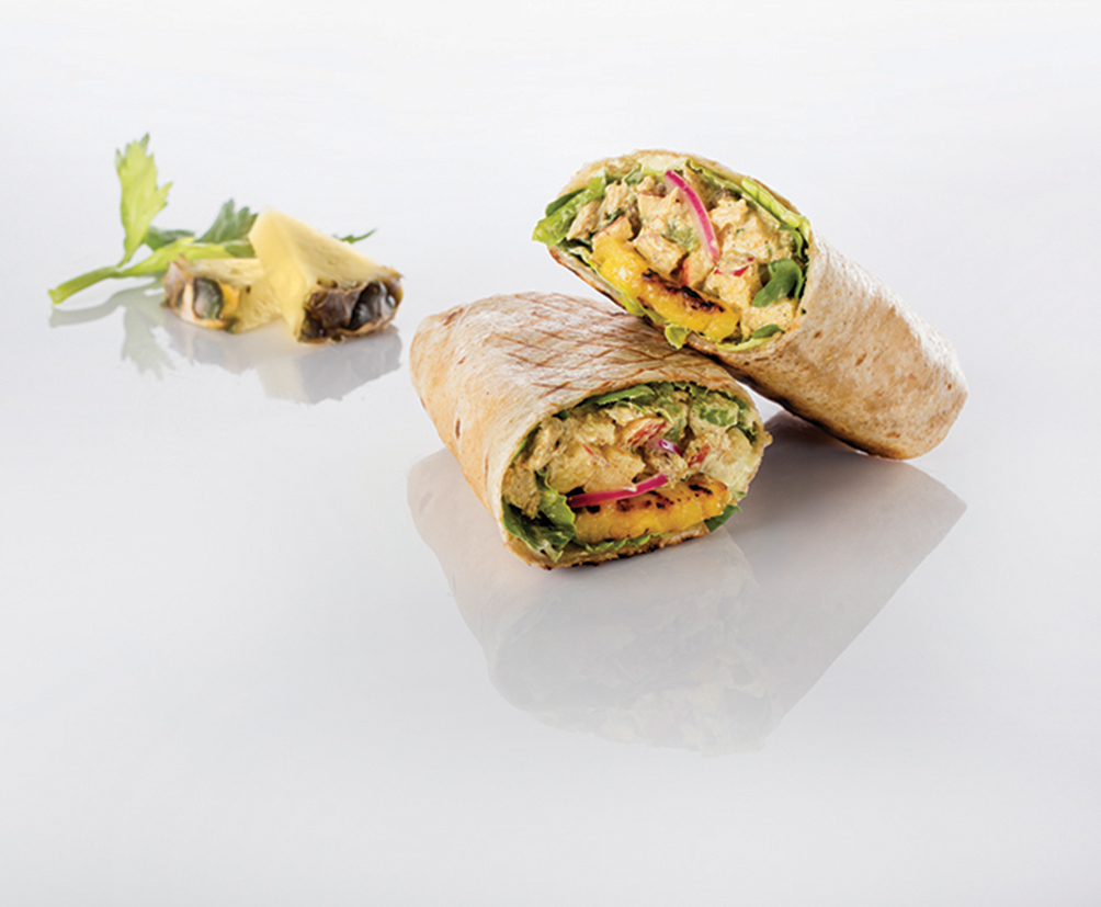 Tandoori Chicken Waldorf Wrap