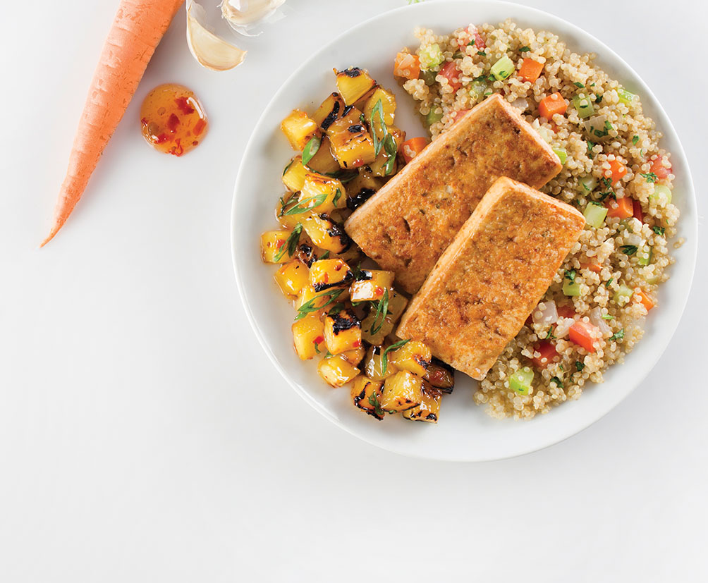 Teriyaki Tofu Quinoa Pineapple