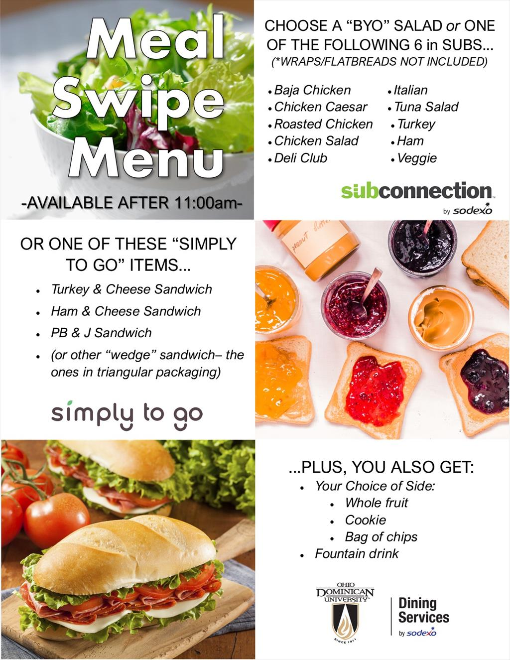 ODU Meal Swipe Menu
