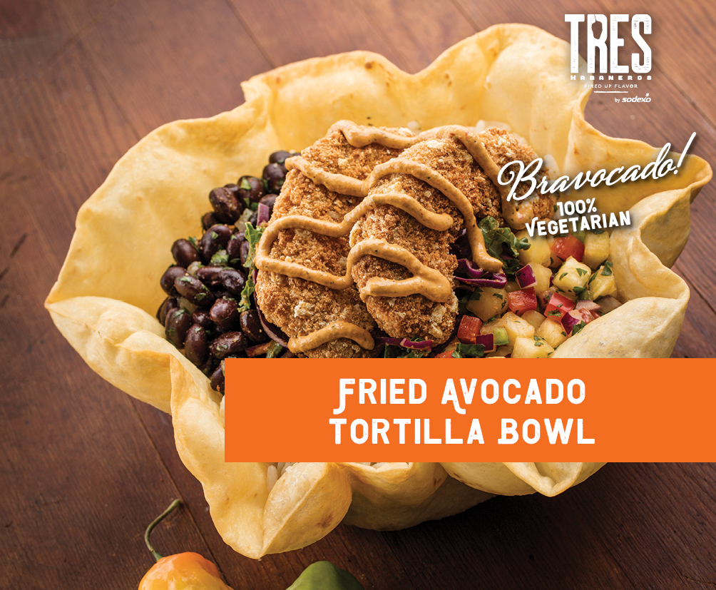 Fried Avocado Tortilla Bowl
