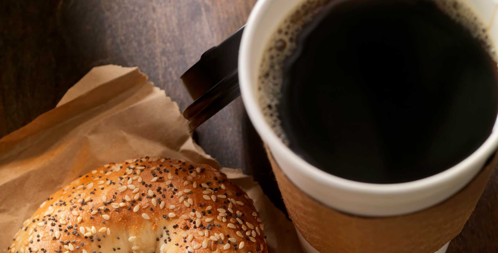 coffee bagel