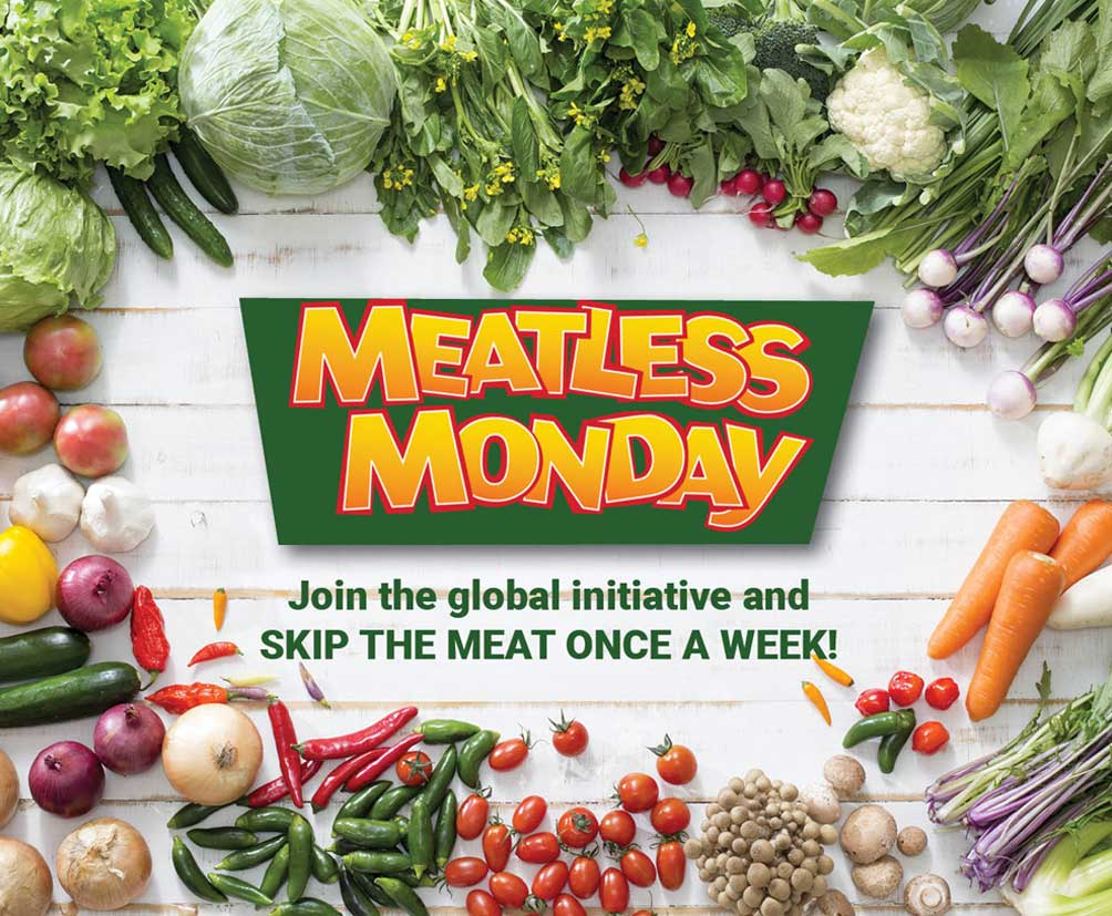 Meatless Monday - join the global initiative and skip the meat once a week